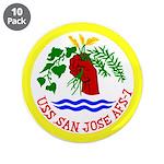 """USS San Jose (AFS 7) 3.5"""" Button (10 pack)"""