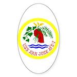 USS San Jose (AFS 7) Oval Sticker (50 pk)