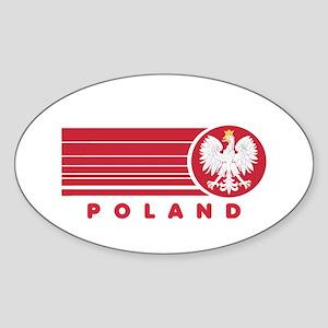 Poland Sunset Oval Sticker