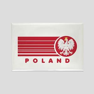Poland Sunset Rectangle Magnet