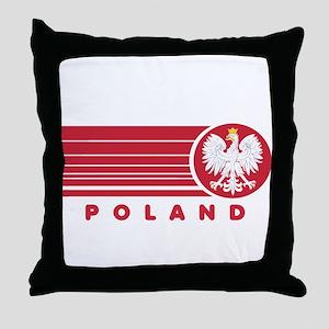 Poland Sunset Throw Pillow
