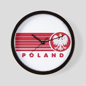 Poland Sunset Wall Clock