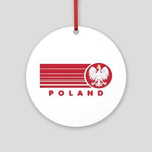 Poland Sunset Ornament (Round)