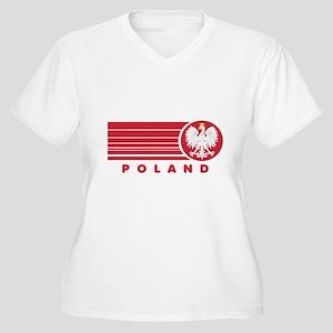 Poland Sunset Women's Plus Size V-Neck T-Shirt
