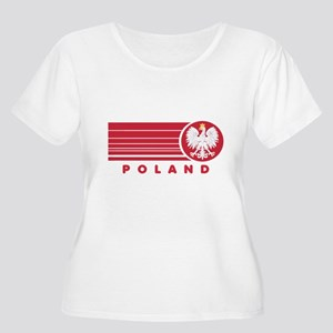 Poland Sunset Women's Plus Size Scoop Neck T-Shirt