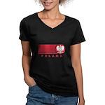 Poland Sunset Women's V-Neck Dark T-Shirt