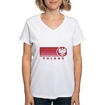 Poland Sunset Women's V-Neck T-Shirt