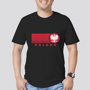 Poland Sunset Men's Fitted T-Shirt (dark)