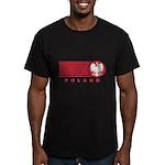 Poland Sunset Men's Fitted T-Shirt (dark)