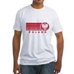 Poland Sunset Fitted T-Shirt