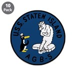 """USS Staten Island (AGB 5) 3.5"""" Button (10 pack)"""
