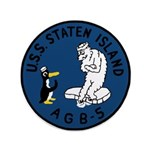 """USS Staten Island (AGB 5) 3.5"""" Button"""