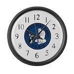USS Staten Island (AGB 5) Large Wall Clock