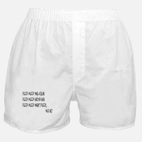Fuzzy Wuzzy Boxer Shorts