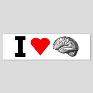 I Love Brain Bumper Sticker
