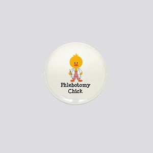 Phlebotomy Chick Mini Button