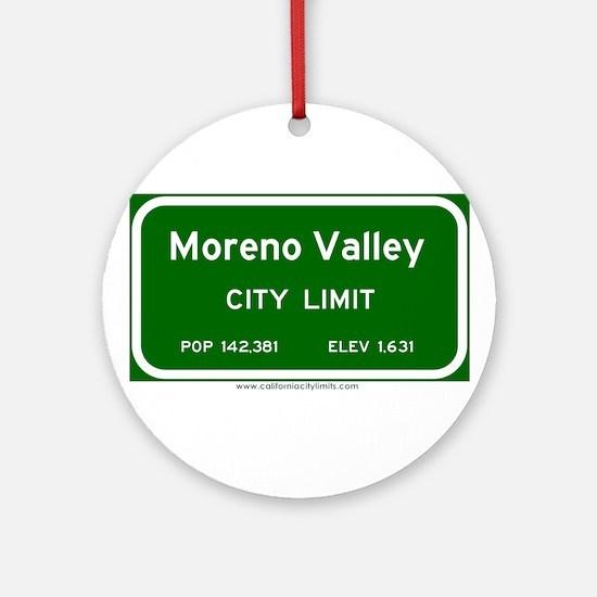 Moreno Valley Ornament (Round)