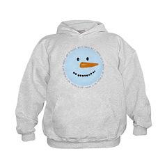 Blue Snowman Hoodie