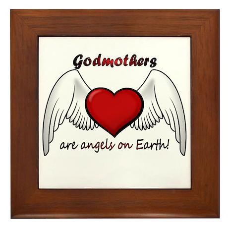 Angel Godmother Framed Tile