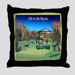 Life in the Bayou Throw Pillow