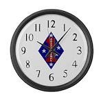 1st Marine Division Large Wall Clock