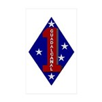 1st Marine Division Rectangle Sticker 50 pk)