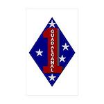 1st Marine Division Rectangle Sticker 10 pk)