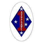 1st Marine Division Oval Sticker (50 pk)
