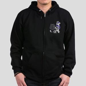 Alaskan Malamute edge Zip Hoodie (dark)