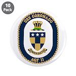 "USS Coronado (AGF 11) 3.5"" Button (10 pack)"