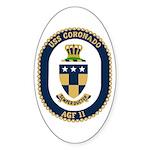 USS Coronado (AGF 11) Oval Sticker (10 pk)