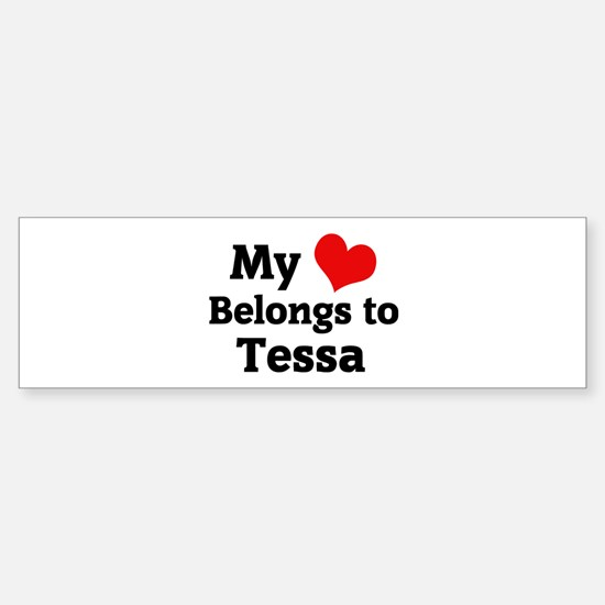 My Heart: Tessa Bumper Car Car Sticker