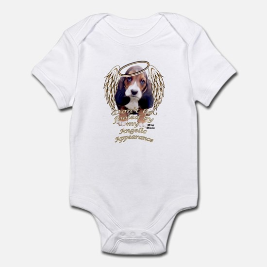 Beagle Puppy with Angel Wings Infant Bodysuit