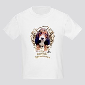Beagle Puppy with Angel Wings Kids Light T-Shirt