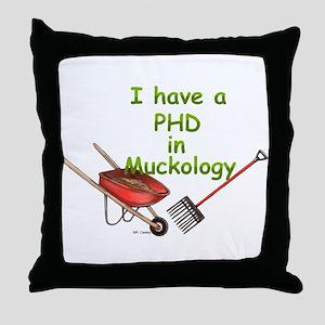 PHD Muckology Throw Pillow