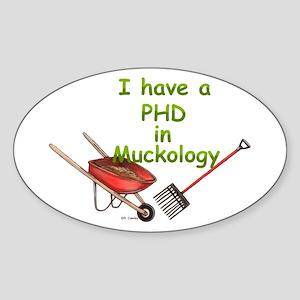 PHD Muckology Oval Sticker