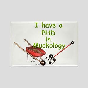 PHD Muckology Rectangle Magnet