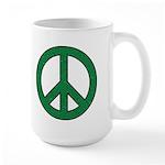 Green Peace Sign Coffee Mug