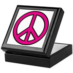 Pink Peace Sign Keepsake Box