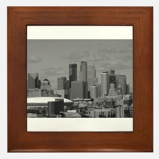 Minneapolis Skyline Framed Tile
