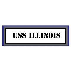 USS Illinois Sticker (Bumper)