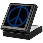 Blue Peace Sign Keepsake Box