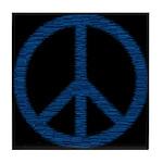 Blue Peace Sign Tile Coaster