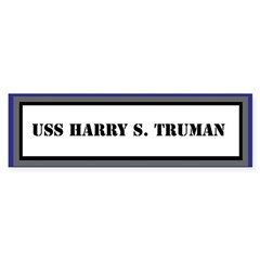 USS Harry S. Truman Sticker (Bumper)