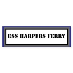 USS Harpers Ferry Sticker (Bumper)