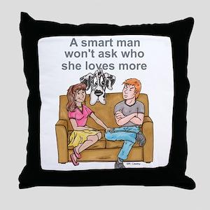 NH Smart Man Throw Pillow
