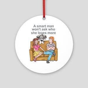NH Smart Man Ornament (Round)