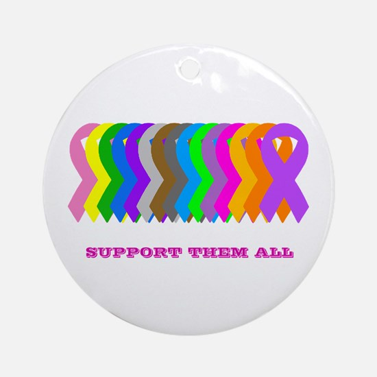 Support them all Ornament (Round)