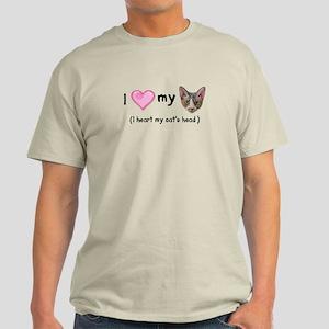 Heart my Cat's Head Light T-Shirt