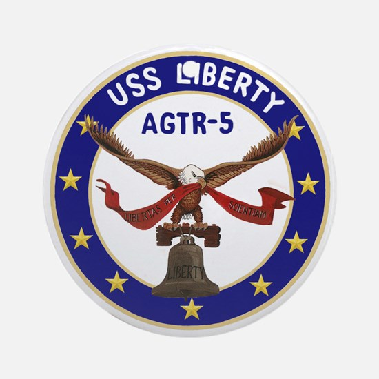 USS Liberty (AGTR 5) Ornament (Round)